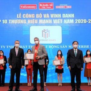 Thông tin mới về Masterise Homes được vinh danh Top 10 Thương hiệu mạnh Việt Nam 2021